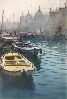 Artist: Joseph  Zbukvic - Title: Venice ( H 50 cm X W 75 cm)