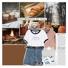 """drowning in you"" by thatwhiteferret ❤ liked on Polyvore featuring moda, H&M, Chicnova Fashion, ALDO, adidas Originals ve Wildfox"