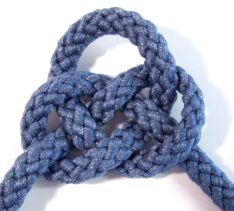 Jospehine Knot. This is great for a button hole end.