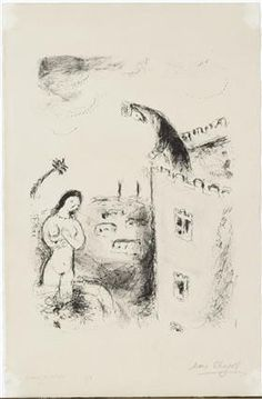 David and Bathsheba - Marc Chagall