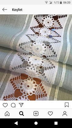 Crochet Art, Crochet Granny, Filet Crochet, Crochet Borders, Crochet Patterns, Hessian Table Runner, Border Embroidery Designs, Crochet Bedspread, Beautiful Crochet