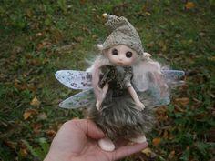 fairy doll clay doll art doll  posable doll por MundoMagico en Etsy