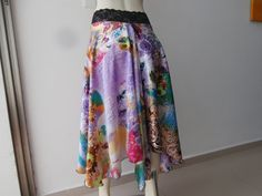 SATIN Argentinian Tango Bell Skirt Size fits US by COCOsDANCEWEAR
