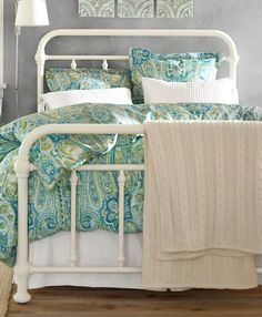 Coleman Bed | Pottery Barn  Frame is pretty in white, too.