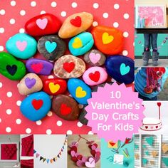 10 Valentine's Day Projects For Kids - I love the rocks! We used to make painted rock animals when i was a kid.