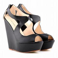 Sexy Peep-Toe High Wedges Club Sandals