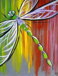 wine and canvas painting ideas Easy Canvas Painting, Easy Paintings, Painting & Drawing, Canvas Art, Canvas Paintings, Canvas Ideas, Dragonfly Painting, Dragonfly Art, Heart Painting