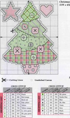 Holiday Whimsies, plastic canvas, chart, page 2/11