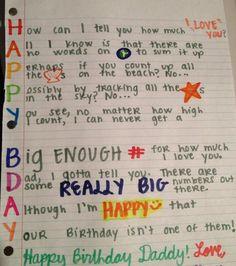 Birthday Card For A Dad