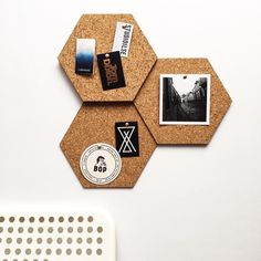 San Diego to Paris, and places in between, our modular cork hex tiles are keeping you stylishly organized.  #madeinportugal #handmade #craft #moderncraft #modern #minimal #hexagon #cork #kork #liège #organization #moodboard #noticeboard #corkboard #instadeco #instadecor #walldecor #etsy #etsyseller #olhao #olhão #algarve #casacubista casa cubista