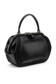 Total Black Bvlgari Single, Top Handle Frame Handbag - Milan Ready-to-Wear - Spring 2015