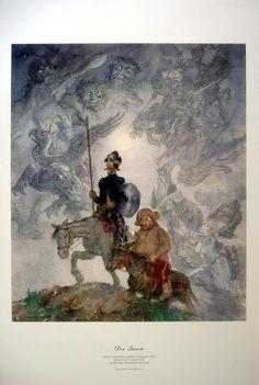 Norman Lindsay {{Don Quixote}} Print