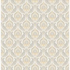 Brewster Wallcovering Honey Classic Damask Wallpaper