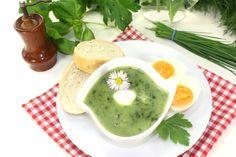 Pyszna zupa szczawiowa przepis Hummus, Ethnic Recipes, Food, Essen, Yemek, Meals
