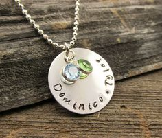 Mother's Sterling Silver and Swarovski Charm Necklace by TNineDesign
