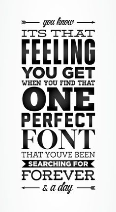 The font search that takes longer than surfing on pinterest!