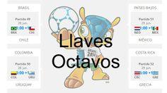 Concluidos los partidos de este martes 24 de junio se conocen las primeras llaves de octavos de final en Brasil 2014