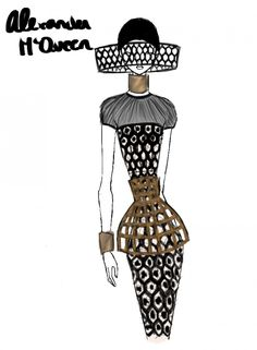 Rei Nadal sketches live from the Alexander McQueen show - Paris Womenswear S/S 2013 - SHOWstudio - The Home of Fashion Film