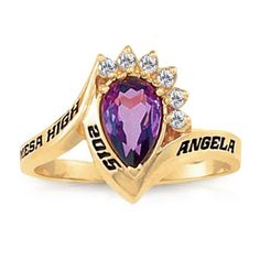 Keystone Girl's Princess Fashion Class Ring