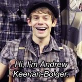 I love how he does this at the beginning of every Newsies related video!