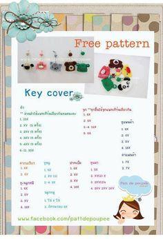 Amigurumi Maneki Neko Free Pattern : Amigurumi Thai Style: Free Pattern key cover Maize Likes ...