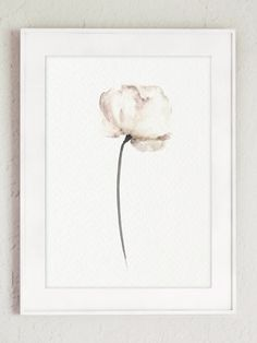 Poppy Floral Home Decor, Abstract Flower White Beige Brown Watercolor Painting, Nature Paper Flower, Poppy Art Print, Mothers Day Wall Decor by ColorWatercolor on Etsy https://www.etsy.com/listing/253336790/poppy-floral-home-decor-abstract-flower