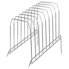 Wire Vertical File Large Silver | Officeworks