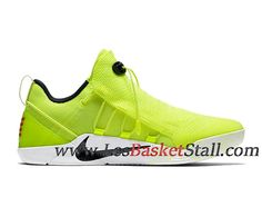 huge discount dd760 c2a57 Nike Kobe A.D. NXT Volt Chaussures de BasketBall Pas Cher Pour Homme Vert  Blanc 916832-