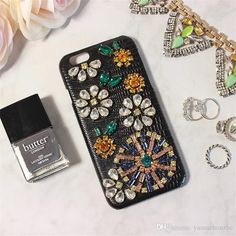 Classy Apple Iphone Cases&Covers With Genuine Leather Bling Bling Czech Crystal/Diamond Super Sexy Black Elegant Designer Phone Cases Best Phone Cases From Yamazhouzhe, $30.37| Dhgate.Com