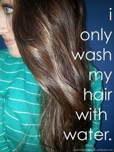 tips & benefits to using ONLY water to wash your hair!