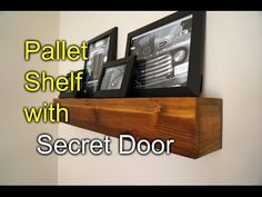 Pallet shelf with secret compartment - Speakeasy Rustic Style! - YouTube