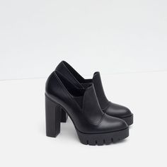 Image 5 of HIGH HEEL LEATHER SHOES WITH TRACK SOLE from Zara