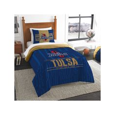 Tulsa Golden Hurricane Modern Take Twin Comforter Set by Northwest, Multicolor
