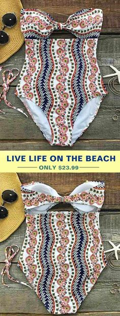 38ee77cfb84c0 Cupshe Seaboard Games Printing One-piece Swimsuit Set can make you feel  sweet sunshine and tropical breezes. Treat yourself to the hottest items of  the ...