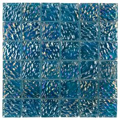 Iridescent Glass Pool Tile Ocean Turquoise 2x2 | Mineral Tiles