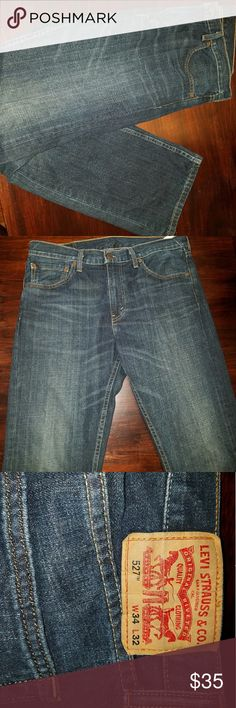NWOT Levi Strauss jeans 34/32 Perfect condition Levi jeans  Style 527 Dark blue New with out tags Levi's Jeans Straight