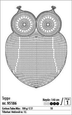 손뜨개~도안및자료실   밴드 Crochet Stitches Chart, Owl Crochet Patterns, Crochet Owls, Crochet Diagram, Cute Crochet, Crochet Motif, Crochet Doilies, Crochet Carpet, Crochet Home