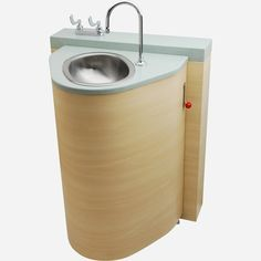 Floor Waste Outlet, Fixed Toilet with Pivoting Oval Lavatory Cabinet - Whitehall Manufacturing