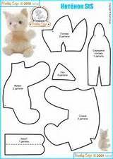 Free Cat Plushie Toy Sewing Pattern