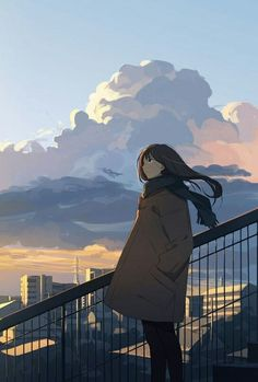 Find images and videos about art, anime and anime girl on We Heart It - the app to get lost in what you love. Anime Art Girl, Manga Girl, Anime Girls, Aesthetic Art, Aesthetic Anime, Pretty Art, Cute Art, Anime Scenery, Anime Artwork
