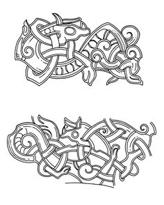Motive von der Silberspange von Skaill. Jellingstil Skaill-jelling - Viking art - Wikipedia, the free encyclopedia