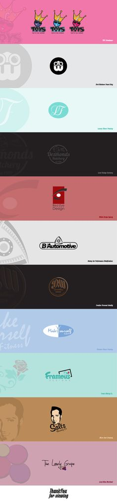 A mixture of logos I have designed. Web Design, Logo Design, Graphic Design, Branding Services, Over The Years, I Am Awesome, Typography, Behance, David