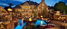 Luxury Pools is a premier outdoor living magazine showcasing the builders and designers who create the ultimate backyard escapes. Dream Home Design, My Dream Home, House Design, Luxury Tumblr, Grotto Pool, Luxury Homes Dream Houses, Dream Homes, Big Homes, Dream Mansion