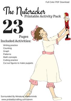 The Nutcracker 23 Page printable homeschool or classroom workbook for Preschoolers and First Grade. Free Printable Worksheets, Worksheets For Kids, Free Printables, Music Worksheets, Nutcracker Crafts, Nutcracker Christmas, Nutcracker Sweet, Christmas Activities, Activities For Kids