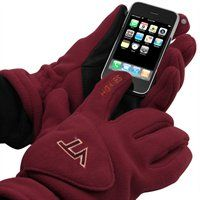 Cold weather Hokies pride meets high-tech functionality with these Tec Touch fleece gloves!