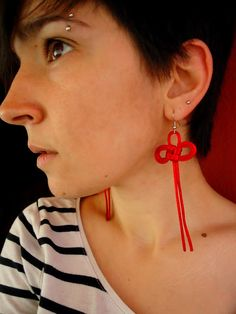 Japanese knot earrings