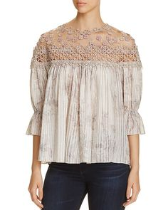 Elie Tahari  Neila Embroidered Blouse    5 / 5   1 Review  PRICE EUR 367.20