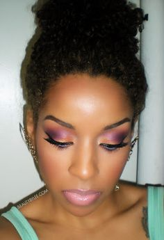 Beauty By Lee: Spring/Summer Night look! Girls Makeup, Love Makeup, Beauty Makeup, Makeup Looks, Hair Beauty, Flawless Makeup, Skin Makeup, Beauty By Lee, Afro