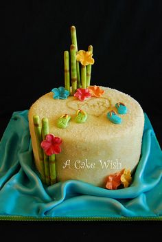 I'm SO picky about cakes & I actually really like this one!  Tropical Wedding Shower Cake