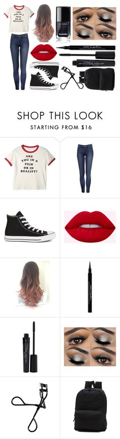 """""""Untitled #6"""" by theimperfect-perfection on Polyvore featuring Converse, Givenchy, Smashbox, Bobbi Brown Cosmetics, Vans and school"""